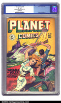 Golden Age (1938-1955):Science Fiction, Planet Comics #60 (Fiction House, 1949) CGC VF 8.0 Off-white pages.A great futuristic submarine cover graces this issue, fe...