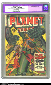 Planet Comics #64 (Fiction House, 1950) CGC Apparent VF- 7.5 Slight (A) Cream to off-white pages. The Lost World fights...