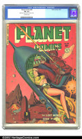 Golden Age (1938-1955):Science Fiction, Planet Comics #65 (Fiction House, 1951) CGC FN 6.0 Off-white pages.A fantastic cover bathed in shades of red, featuring our...