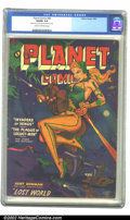 Golden Age (1938-1955):Science Fiction, Planet Comics #66 (Fiction House, 1952) CGC VG/FN 5.0 Cream tooff-white pages. Covered in rich purple, this cheesecake cove...