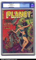 Golden Age (1938-1955):Science Fiction, Planet Comics #67 Bethlehem pedigree (Fiction House, 1952) CGC VF8.0 Off-white pages. The Nymphs of Neptune seduce naive sp...
