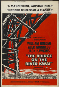 "The Bridge On The River Kwai (Columbia, 1958). Poster (40"" X 60""). Academy Award Winner"