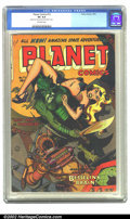 "Golden Age (1938-1955):Science Fiction, Planet Comics #72 (Fiction House, 1953) CGC VG 4.0 Off-white pages. ""What was the kink in the Besselink Brain?"" An important..."