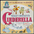 "Movie Posters:Animated, Cinderella (Buena Vista, R-1965). Six Sheet (81"" X 81"").Animated...."