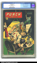 Golden Age (1938-1955):Adventure, Punch Comics #9 (Chesler, 1944) CGC FN 6.0 Cream to off-white pages. One of the most famous Chesler covers, featuring the ar...