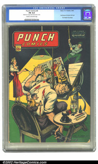 Punch Comics #9 (Chesler, 1944) CGC FN 6.0 Cream to off-white pages. One of the most famous Chesler covers, featuring th...