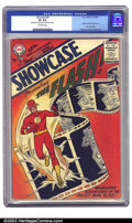 Silver Age (1956-1969):Superhero, Showcase #4 (DC, 1956) CGC VF 8.0 Off-white pages. Julius Schwartz ushered in the Silver Age with this book, re-introducing ...
