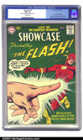 Silver Age (1956-1969):Superhero, Showcase #8 (DC, 1957) CGC FN+ 6.5 Off-white pages. Flash faced off against Captain Cold in his second appearance. Of his fo...