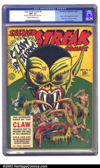Silver Streak Comics #6 File Copy (Lev Gleason, 1940) CGC NM- 9.2 Cream to off-white pages. The avenging hand of the Cla...