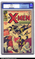 Silver Age (1956-1969):Superhero, X-Men #1 (Marvel, 1963) CGC VF- 7.5 Off-white pages. All thingsmutant sprang from this important seminal issue. Little did ...