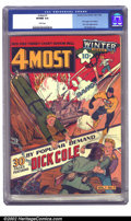 Golden Age (1938-1955):War, 4 Most #1 (Novelty Press, 1941) CGC VF/NM 9.0 White pages. This keyissue features the Target by Sid Greene, the Cadet and D...