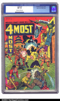 Golden Age (1938-1955):War, 4 Most #2 Mile High pedigree (Novelty Press, 1942) CGC NM- 9.2Off-white to white pages. Dick Cole, Target, Edison Bell, and...