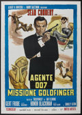 "Movie Posters:James Bond, Goldfinger (United Artists, R-1970s). Italian 2 - Folio (39"" X55""). James Bond...."