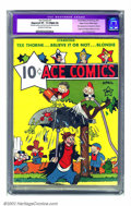 Golden Age (1938-1955):Humor, Ace Comics #1 Mile High pedigree (David McKay Publications, 1937) CGC Apparent VF- 7.5 Slight (A) Off-white to white pages. ...