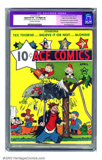 Ace Comics #1 Mile High pedigree (David McKay Publications, 1937) CGC Apparent VF- 7.5 Slight (A) Off-white to white pag...