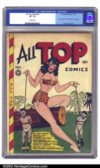 All Top Comics #8 (Fox Features Syndicate, 1947) CGC VF- 7.5 Off-white pages. After seven issues of funny animal pablum...