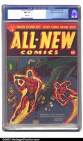 Golden Age (1938-1955):War, All-New Comics #5 Mile High pedigree (Harvey, 1943) CGC NM 9.4 White pages. Here's another gem of a comic that came out of t...