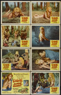 "Movie Posters:Adventure, Liane, Jungle Goddess (DCA, 1958). Lobby Card Set of 8 (11"" X 14"").Adventure.... (Total: 8 Items)"