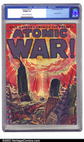 Golden Age (1938-1955):Science Fiction, Atomic War! #1 (Ace, 1952) CGC VF/NM 9.0 Cream to off-white pages.Atom bomb covers are highly prized and this one is as cat...
