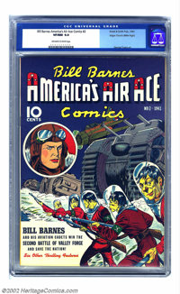 Bill Barnes Comics #2 Mile High pedigree (Street & Smith, 1941) CGC VF/NM 9.0 Off-white to white pages. This pre-war...