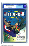Golden Age (1938-1955):War, Bill Barnes Comics #3 Mile High pedigree (Street & Smith, 1941) CGC VF+ 8.5 Off-white to white pages. Before the Japanese bo...