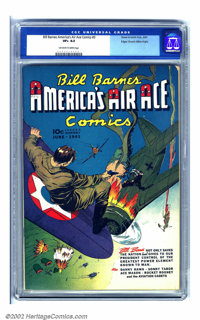 Bill Barnes Comics #3 Mile High pedigree (Street & Smith, 1941) CGC VF+ 8.5 Off-white to white pages. Before the Jap...