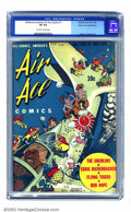 Golden Age (1938-1955):War, Bill Barnes Comics #11 Mile High pedigree (Street & Smith,1943) CGC VF 8.0 Off-white to white pages. This fantastic titlei...