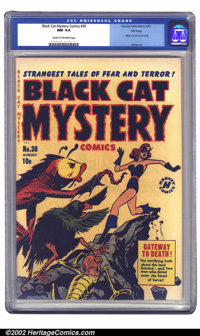 Black Cat Mystery #30 File Copy (Harvey, 1951) CGC NM 9.4 Cream to off-white pages. Here is the very first issue of Blac...