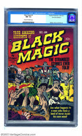 Golden Age (1938-1955):Horror, Black Magic #2 Palo Alto pedigree (Prize, 1950) CGC NM- 9.2 Creamto off-white pages. Classic Jack Kirby covers distinguishe...
