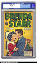 Golden Age (1938-1955):Crime, Brenda Starr Vol. 2, #11 (Four Star, 1949) CGC VF+ 8.5 Cream to off-white pages. A striking green and yellow cover fronts th...