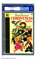 Golden Age (1938-1955):Cartoon Character, Bugs Bunny's Christmas Party #6 File copy (Dell, 1955) CGC NM+ 9.6Off-white pages. Thank goodness for CGC's encasement, bec...