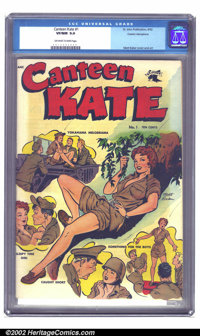 Canteen Kate #1 Cosmic Aeroplane pedigree (St. John, 1952) CGC VF/NM 9.0 Off-white to white pages. With Matt Baker cover...
