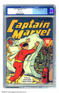 Golden Age (1938-1955):Superhero, Captain Marvel Adventures #11 Rockford pedigree (Fawcett, 1942) CGC NM+ 9.6 Cream to off-white pages. Even the combined stre...