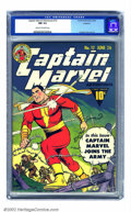 Golden Age (1938-1955):Superhero, Captain Marvel Adventures #12 Rockford pedigree (Fawcett, 1942) CGC NM 9.4 Cream to off-white pages. The fantastic wartime i...