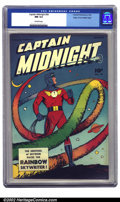 Golden Age (1938-1955):Superhero, Captain Midnight #59 Mile High Pedigree (Fawcett, 1948) CGC NM 9.4 Off-white pages. An absolutely gorgeous rainbow cover is ...