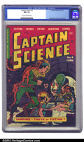 Golden Age (1938-1955):Science Fiction, Captain Science #4 (Youthful Magazines, 1951) CGC NM- 9.2 Cream tooff-white pages. Prior to joining EC comics, Wally Wood d...
