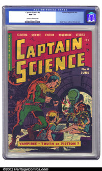 Captain Science #4 (Youthful Magazines, 1951) CGC NM- 9.2 Cream to off-white pages. Prior to joining EC comics, Wally Wo...