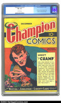 Golden Age (1938-1955):Adventure, Champion Comics #2 (Harvey, 1939) CGC FN+ 6.5 Off-white pages. This is actually the first issue in this Harvey series that a...