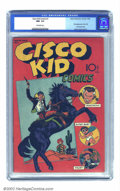 Golden Age (1938-1955):Western, The Cisco Kid #1 (Baily Publication, 1944) CGC NM- 9.2 Off-whitepages. This is currently the highest and only CGC-graded co...