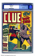 Golden Age (1938-1955):Crime, Clue Comics #1 (Hillman Fall, 1943) CGC VF/NM 9.0 Off-white pages. Hillman Periodicals was all over the board with their off...