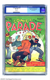 Comics On Parade #29 Mile High pedigree (United Features Syndicate, 1940) CGC FN 6.0 White pages. This book has all of t...