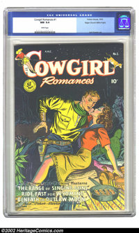 Cowgirl Romances #1 Mile High pedigree (Fiction House, 1950) CGC NM 9.4 White pages. This is another exceptional example...