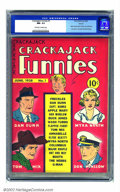 Golden Age (1938-1955):Humor, Crackajack Funnies #1 Denver pedigree (Dell, 1938) CGC NM- 9.2 Off-white to white pages. Debuting at virtually the same time...