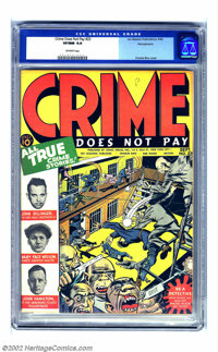 Crime Does Not Pay #23 Pennsylvania pedigree (Lev Gleason, 1942) CGC VF/NM 9.0 Off-white pages. Labelled #23, this is re...