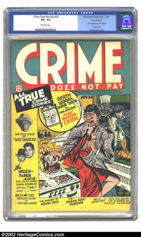Crime Does Not Pay #24 Pennsylvania pedigree (Lev Gleason, 1942) CGC VF+ 8.5 Off-white pages. Your years of searching ha...