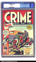Golden Age (1938-1955):Crime, Crime Does Not Pay #26 Pennsylvania pedigree (Lev Gleason, 1943) CGC VF/NM 9.0 Off-white pages. Ouch! And I get frightened j...