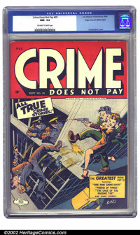 Crime Does Not Pay #35 Mile High pedigree (Lev Gleason, 1944) CGC NM- 9.2 Off-white to white pages. The copper certainly...