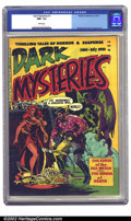 Golden Age (1938-1955):Horror, Dark Mysteries #1 (Master Publications, 1951) CGC NM- 9.2 Whitepages. Wally Wood's cover and 8-page story highlight the fir...