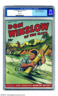 Golden Age (1938-1955):War, Don Winslow #31 Mile High pedigree (Fawcett, 1946) CGC NM 9.4Off-white pages. In most cases, a Near Mint book is an ideal t...