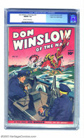 Golden Age (1938-1955):War, Don Winslow #37 Mile High pedigree (Fawcett, 1946) CGC NM/MT 9.8Off-white to white pages. One of the more colorful covers i...